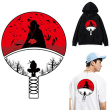 Anime Naruto Iron On Transfer Patches Voor Kleding Diy Uchiha Clan Badge T-shirt Jas Hoodie Grade-Een Strijken Transfer stickers(China)