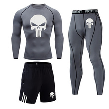 3D skull underwear long johns warm Base layer Fitness joggin