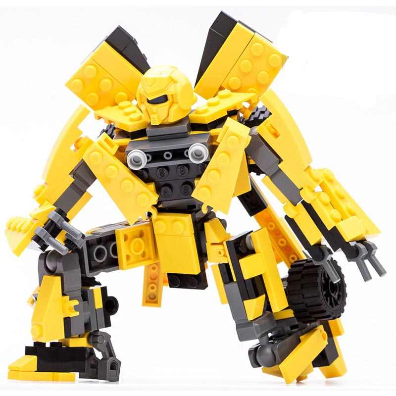 New Arrival 2 In 1 Transformation Series Robot Vehicle Sport Car DIY Legoings Building Blocks Kit Toys Kids Best Gifts