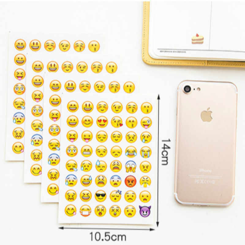 1pcs เด็ก Kawaii โทรศัพท์มือถือ Expression สติกเกอร์ปาร์ตี้ Favors สำหรับ BOY GIRL เด็กอุปกรณ์ Favors Treat BAG FILLER