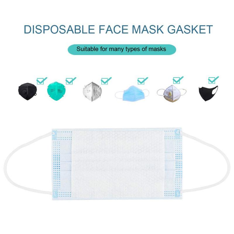 100 PCS Non-woven Filters Anti-particle Anti-dust Masks Filter Activated Carbon Filter Sheet Skin-friendly Masks Gasket Filter