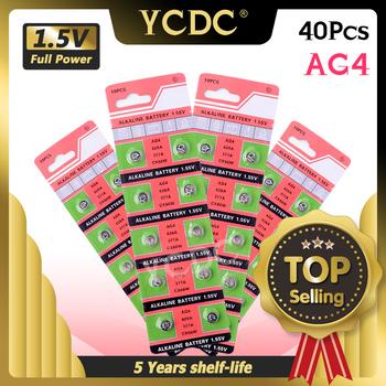 2020 nowa promocyjna 40 sztuk Ag4 LR 626 alkaliczne przycisk ogniwa monetowe 1 55v baterie do zegarków 377 D377 GP377 L626 LR626 SR626 SR626SW tanie i dobre opinie YCDC CN (pochodzenie) 17mah About 6 8mm 0 27 Other EE6883 button cell 0 007 China (Mainland) toys calculators laser pointers calculators cameras
