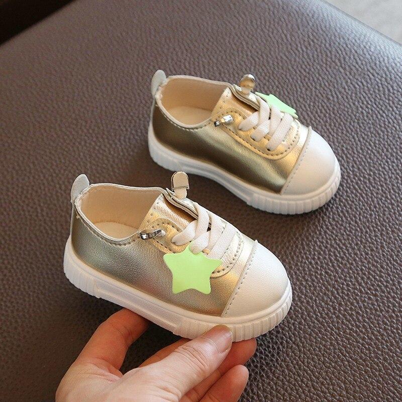 На осень для маленьких девочек обувь для маленького мальчика Детские Повседневное кроссовки мягкая подошва удобные дышащие детские кроссо...