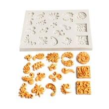 Дизайнерские diy глиняные узоры Пейсли stampo cemento формы