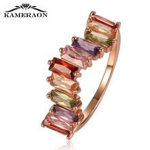 W shaped дизайнерское кольцо с цветным цирконием, стразы, женские свадебные кольца, золотые, благородные, креативные ювелирные изделия для моста