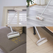 Sticky Mop Lint Roller Extendable Handle Sticky Paper Roller Sofa Floor Cleaning Roller for Hair Dust Pet Fluff Cleaning Tools(China)