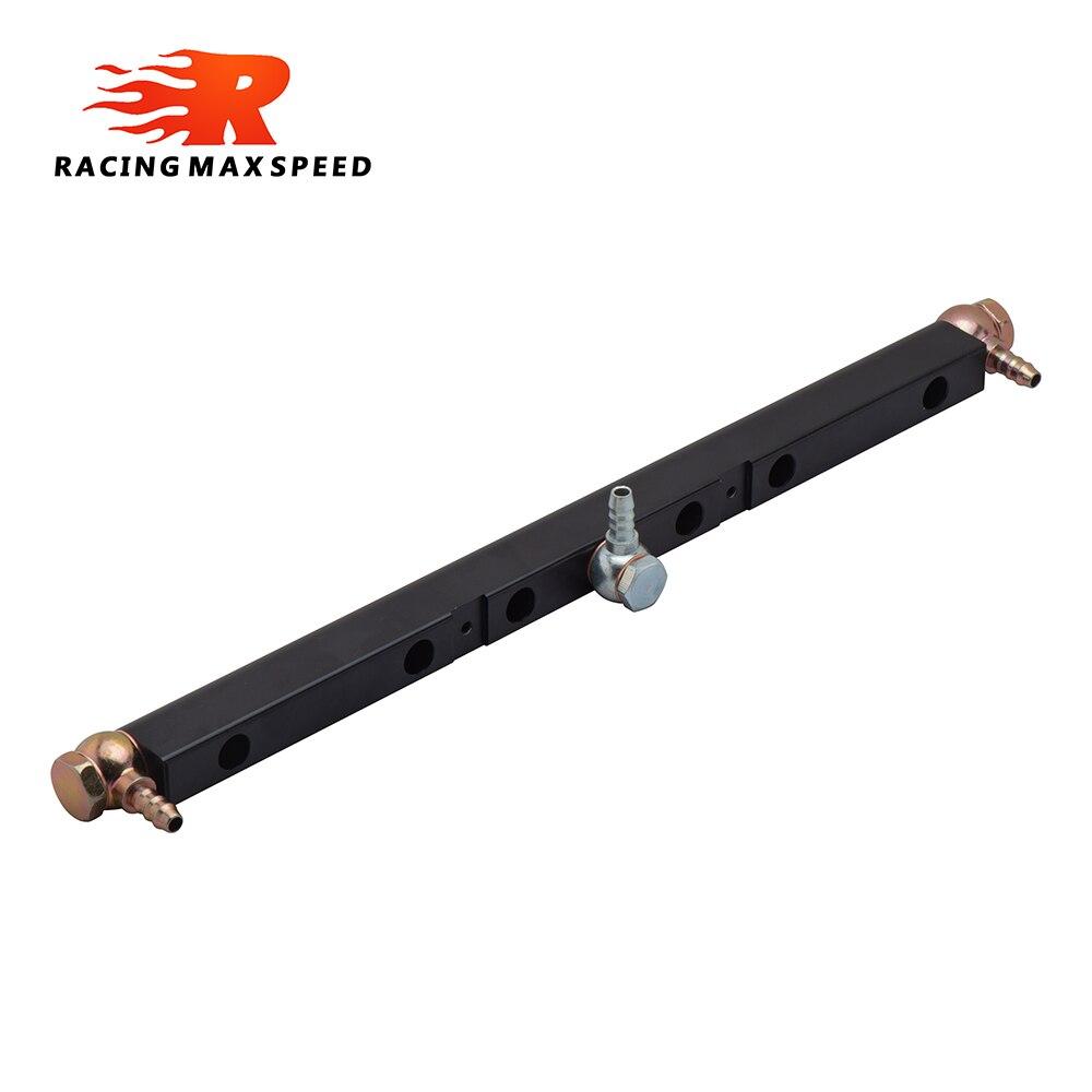 Большой поток воздуха Алюминий Топливная рампа комплект для vr6 турбокомпрессора черный FR-02-BK