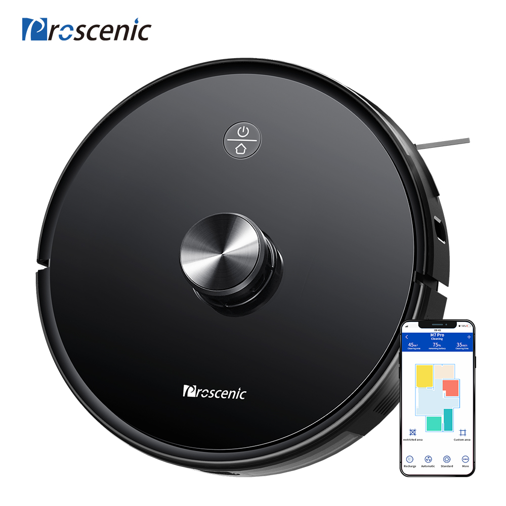 Proscenic M7 Pro 2700pa Laser Navigation Robot Vacuum Cleaner  With Wet Cleaning Washing Vacuum Cleaner Carpet Cleaner For Home