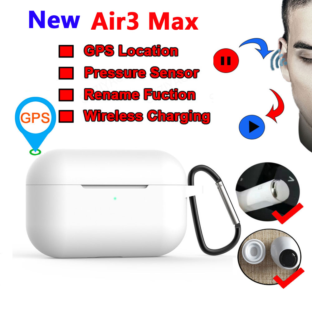 Air3 Max Tws Wireless Earphone With Text Air 3 Pressure Sensor Bluetooth Headset Earbuds PK I9000 I90000 I300000 I200000 PRO Tws