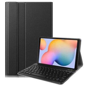 Чехол для Samsung Galaxy Tab S6 Lite 10,4 чехол для клавиатуры P610 P615 чехол Bluetooth клавиатура с держателем ручки PU кожаный чехол-подставка