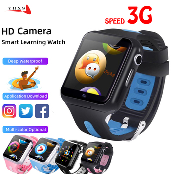 Smart 3G GPS Kids Students Bluetooth Music Camera Wristwatch Video Call Monitor Tracker Location Google Play Android Phone Watch