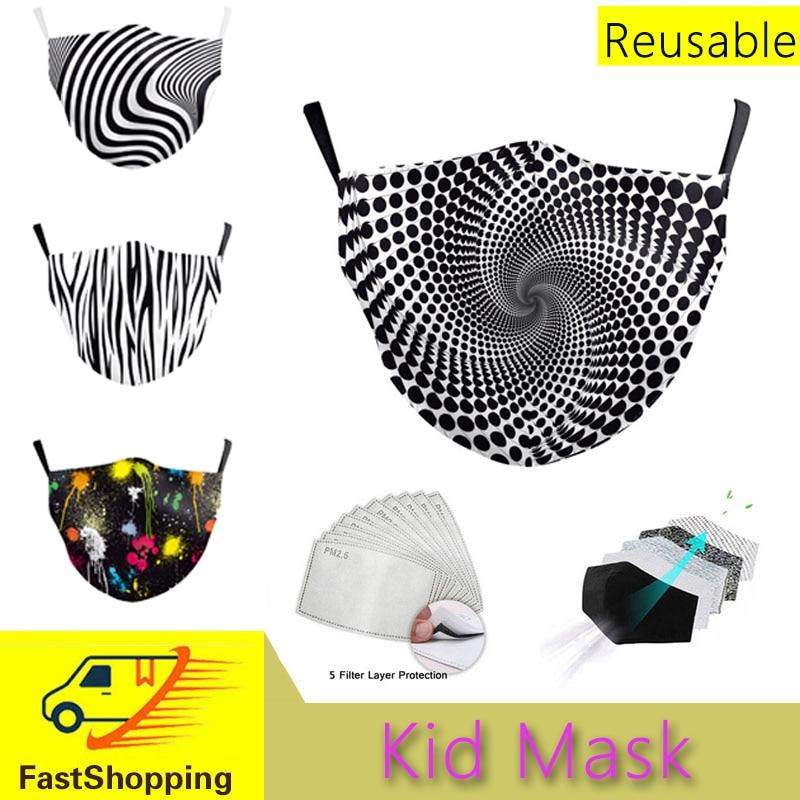 Máscara facial para crianças meninos meninas máscara crianças lavável tampas de boca dustproof haze esponja rosto mondkapjes mascarilla bonés de beisebol