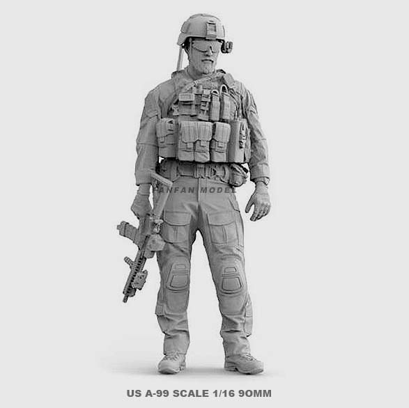 1/16 Resin Soldier Figure Kits U.S. Navy SEALs Resin Soldiers  Colorless And Self-assembled A-99