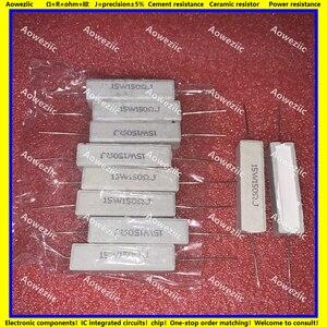 Image 1 - Resistencia de cemento Horizontal, 10 Uds., 15W150RJ 15W150ΩJ RX27 15W 150 ohm R 15W150ohm, resistencia cerámica, precisión 5%, resistencia de potencia