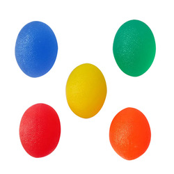 Sports Goods Wholesale Transparent Egg-shaped Grip Ball Wrist Ball Finger Massage ball Multicolor Optional For Sports