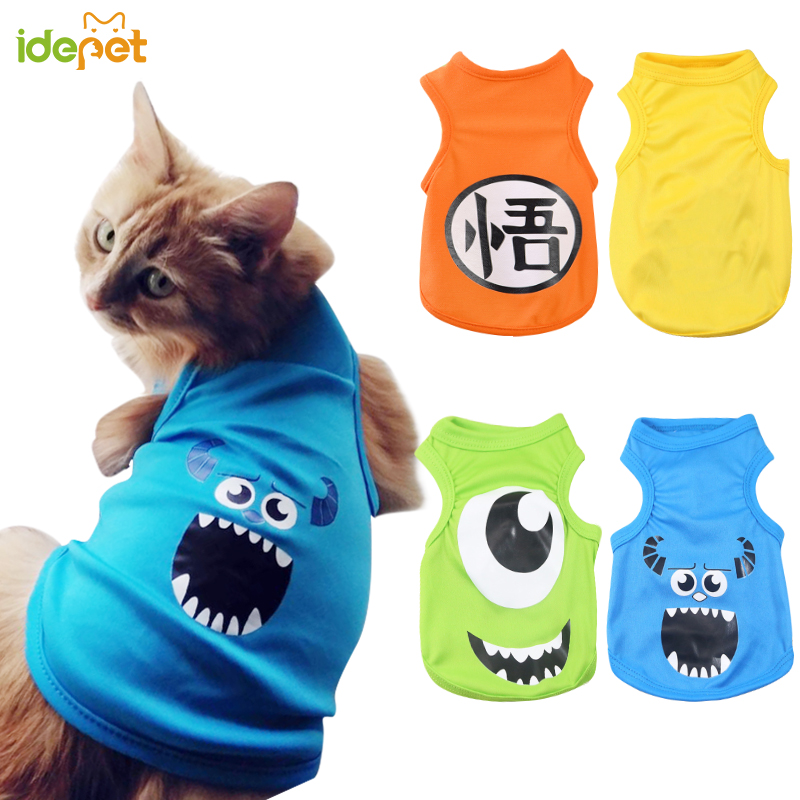 Pet-Cat-Clothes Vest Costume T-Shirt Cats Summer For Dog Puppy-35 Small Cartoon