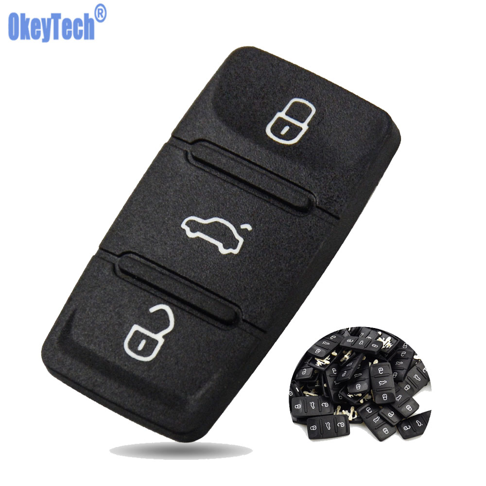 OkeyTech для V W Golf Skoda Octavia Seat Leon libiza Altea Key Shell, замена, ремонт, 3 кнопки, коврик для автомобильного ключа
