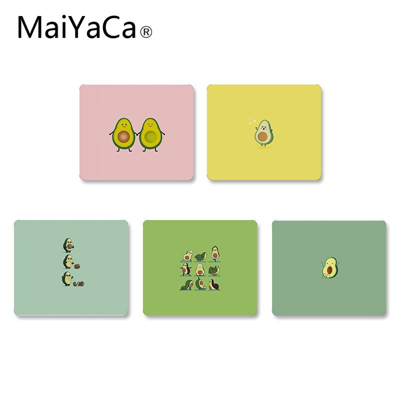 MaiYaCa Hot Sales Avocado Aesthetic Gteen Fruit Food Gaming Small Mouse Pad DIY Design Gaming Mouse Pad Rug For Laptop Notebook