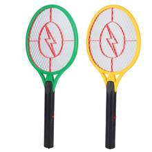 Electric Shock Usb Killer Cordless Battery Power Electric Fly Mosquito Swatter Bug Zapper Racket Insects Killer Bug Zapper(China)