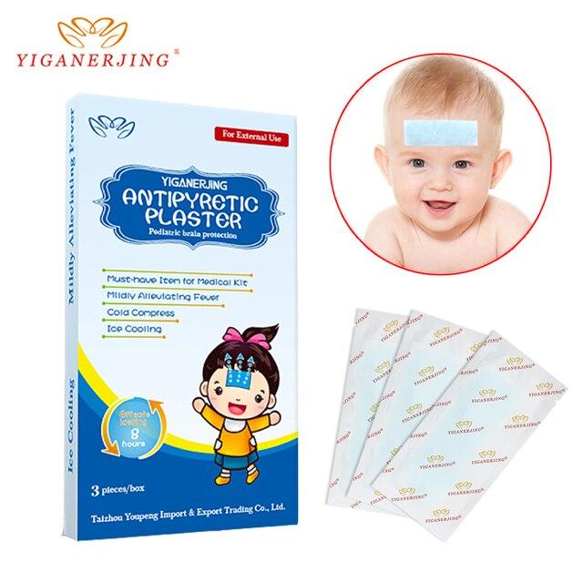 3 قطعة/صندوق الطفل التبريد هلام الجليد لصق خافض للحرارة الجص منع حمى الأطفال قطعة باردة الجليد التبريد الصحافة لدرجة حرارة لينة 1