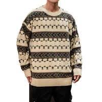 Suéter de invierno de 2019 para hombre, suéter de punto Casual de manga larga con estampado de venado