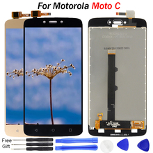 5.0 inch LCD For Motorola Moto C Display LCD Touch Screen Digitizer Assemble XT1750 XT1755 XT1754 replace For Motorola C Display