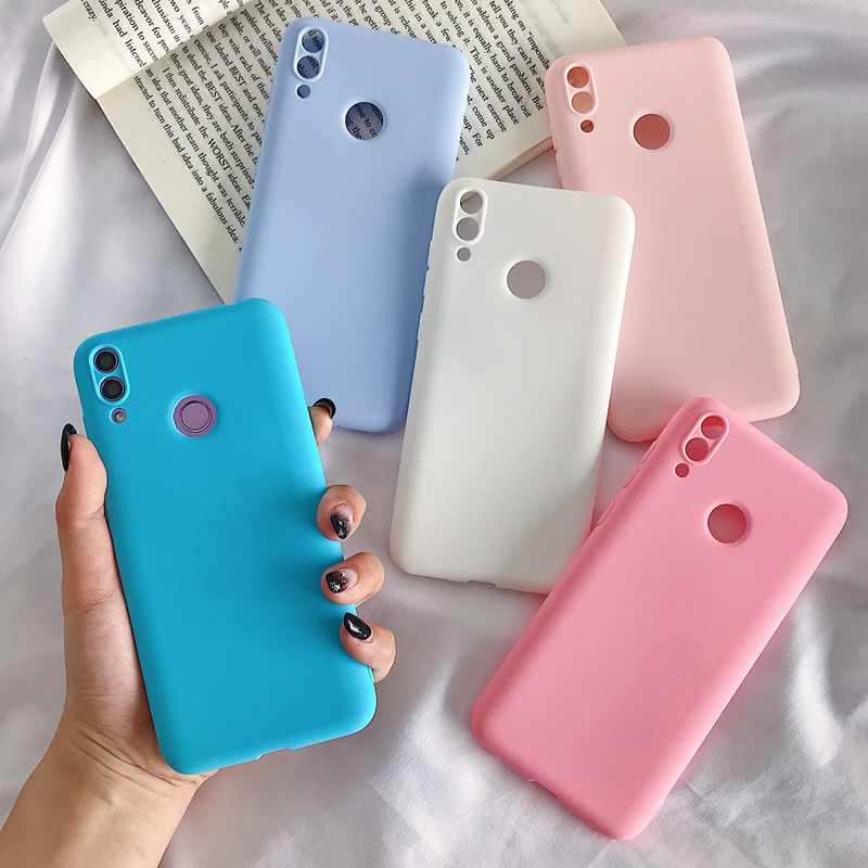 Huawei Y6 7 8 9 7 başbakan 2018 telefon kılıfı Y7 2017 Y6 9 9 başbakan 2019 çeşitli renk TPU yumuşak plastik anti-sonbahar cep telefonu kılıfı