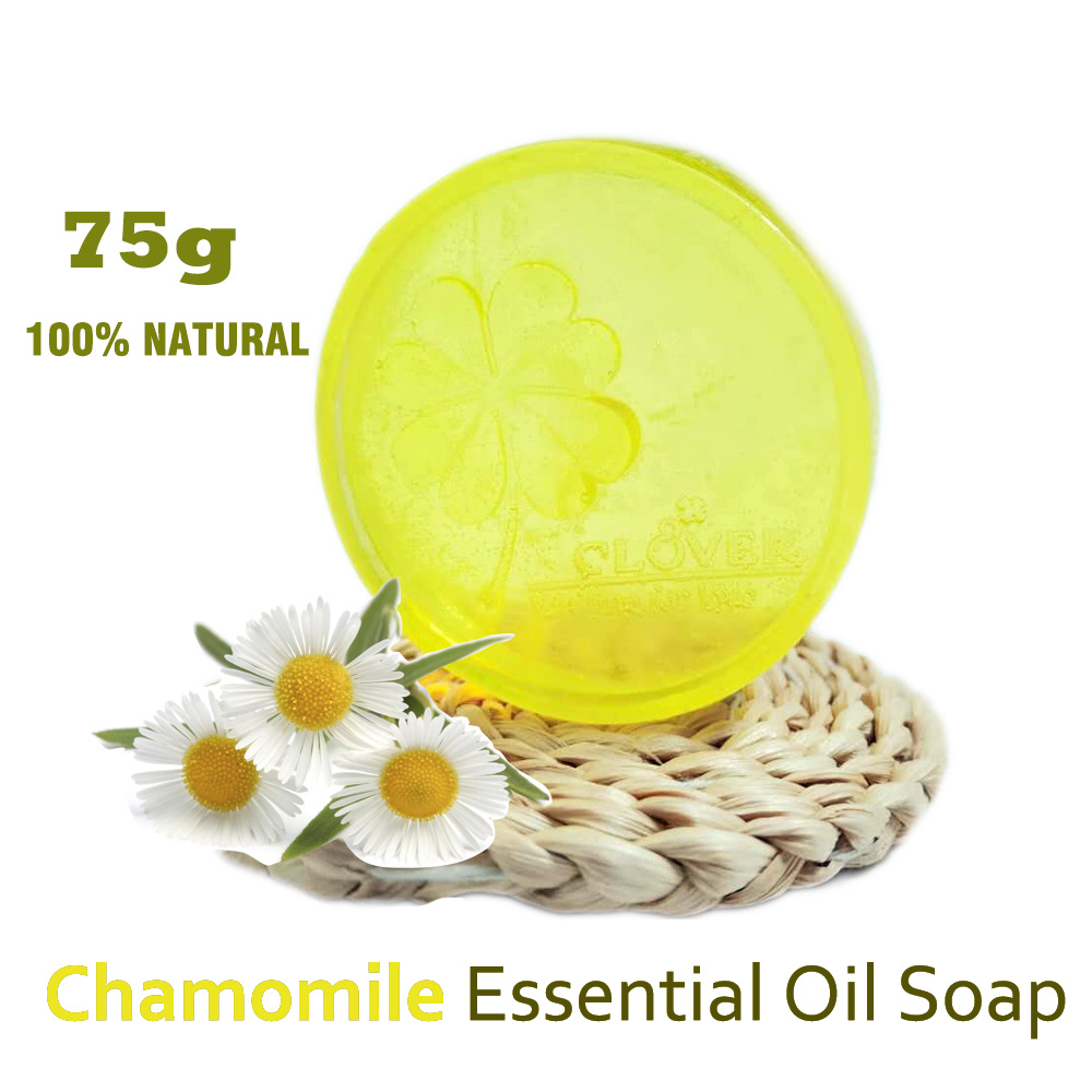 Hand Made Chamomile Essential Oil Soap Facial Soap Chamomile Body Soap Bath Soap Baby Soap Antiallergic And Whitening Face Soap