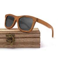 Wayfarer Full - Bambou Foncé - Noir - Coffret en bois