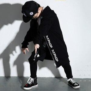 Image 3 - Костюм для мальчиков и девочек, современный танцевальный костюм в стиле хип хоп, для выступлений на сцене, DNV11113, 2019
