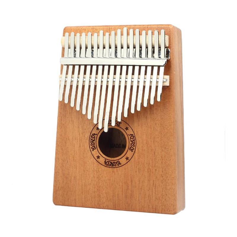 17 Keys Kalimba Wood Mahogany Thumb Piano With Tuning Hammer Cloth Sticker Brown Musical Instruments