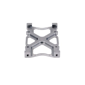 Aluminum Alloy Beam Connecting Plate Battery Tray Compartment Mount Plate for Axial SCX10 1/10 RC Crawler Car Upgrade Parts metal aa battery connecting spring lamination contact plate 30 pcs