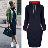 Multicolor High Lead Long Sleeve Package Buttocks Winter Maxi Autumn Casual Sweater Red Dress Women Vestido Clothes Befree