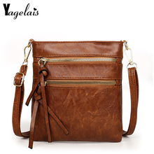 Women PU Leather Bags LadiesDouble Zipper Shoulder Bags Wome