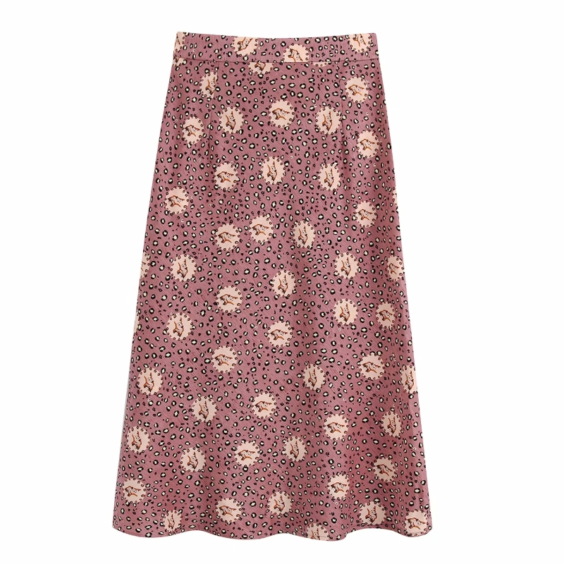 2020 New Women Vintage Leopard Print Casual Slim Mermaid Skirt Faldas Mujer Ladies Side Zipper Chic Vestido Kneeth Skirts QUN604