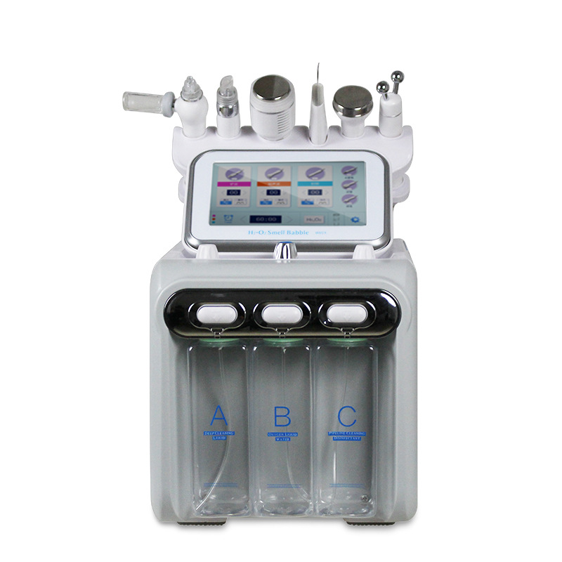 NEW Hydrogen Oxygen Small Bubbles Ultrasonic Oxygen Facial Cleaning Inject Oxygen Machine Beauty Face Lifting Skin Rejuvenation