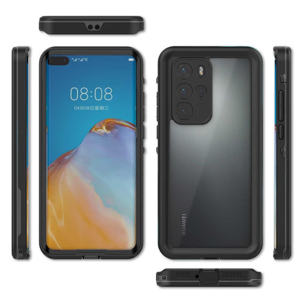 Ốp Lưng Dành Cho Trong Suốt Cho Huawei P40 Pro Chống Nước Bảo Vệ 360 Độ TPU + PC Chống Bụi Dành Cho Huawei P40 Pro HD Rõ Nét