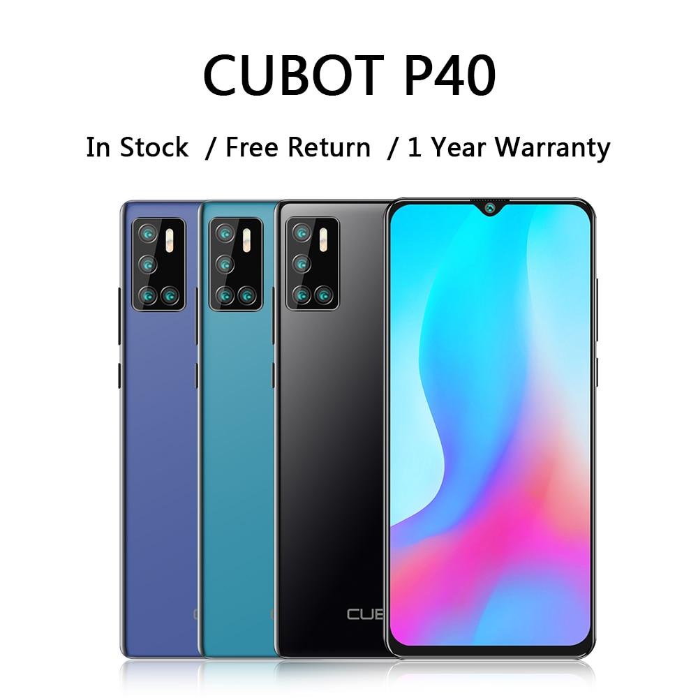 Cubot p40 smartphone com um poderoso 20mp selfie câmera 4200 bateria celular 128 gb 6.2 Polegada android 10 nfc celulares