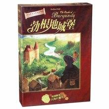 Jogo de tabuleiro cartões de castelo de borgonha