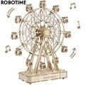 Robotime 232 stücke Drehbare DIY 3D Riesenrad Holz Modell Baustein Kits Montage Spielzeug Geschenk für Kinder Erwachsene TGN01
