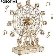 Robotime 232 pièces Rotatif BRICOLAGE 3D Grande Roue En Bois Bloc de Construction De Modèle de Kits Jouet Cadeau pour Enfant Adulte TGN01