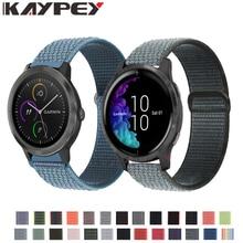 Woven-Strap Bracelet Watchband Loop Venu Move Garmin Vivoactive 20mm Forerunner 645 Music