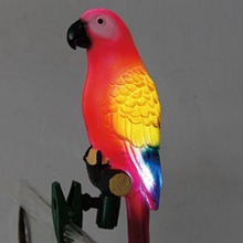 Solar Power LED Light Bird Parrot Lamp With Clip Night Lights for Outdoor Garden Path Ornament HY99