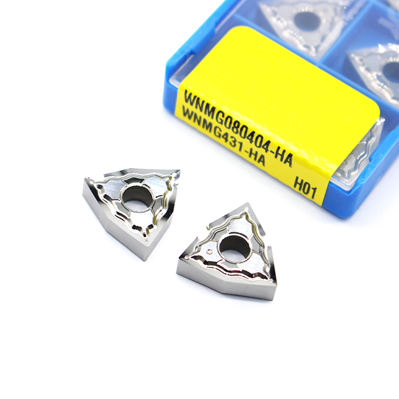 10PCS SNMG120404-HA H01 Aluminum blade Carbide Inserts CNC for Aluminum