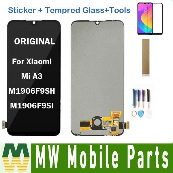 Con Cristal templado para Xiaomi mi A3 M1906F9SH M1906F9SI pantalla LCD y digitalizador Sensor de pantalla táctil