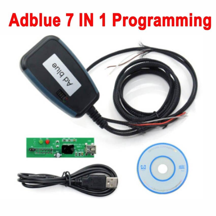 Heißer Adblue 7in1 Entfernen Werkzeug Deaktivieren Ad-Blue System In Lkw 7 in 1 Adblue Emulator mit Programmierung Adapter lkw Programmierer Werkzeug