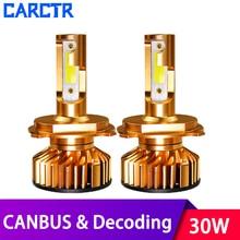 Universal Canbus LED Car Headlight Bulbs H4 Led H7 Lamps H3 H1 12V ZES Chips COB Decoding 10000LM 3000K 6000K 8000K Car Lights цена 2017