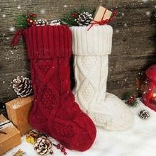 Рождественские чулки, 6 пачек, 15 дюймов, маленький размер, вязаные рождественские деревенские персонализированный чулок, украшения для семьи