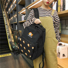 Simple fashion printing college wind school bag 2020 new female backpack simple backpack luodun 2018 new backpack female shoulder bag leather fashion korean wave simple bag college wind mini bag ladies bag