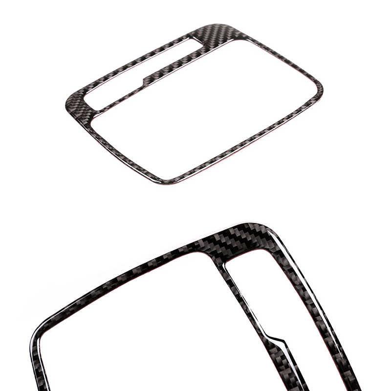 폭스 바겐 touareg 들어 2011-2015 2016 2017 2018 자동차 인테리어 센터 컨트롤 기어 시프트 패널 워터 컵 홀더 탄소 섬유 커버 장식